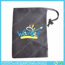 Customized small non woven gift bag with drawstring