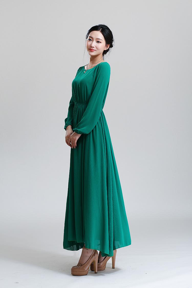 Long sleeves maxi dress wholesale 2017