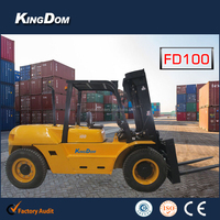 10tons heavy container forklift truck diesel power for container lifting