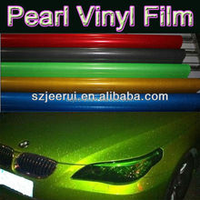 self adhesive reflective bright pearl vinyl film car stickers for decoration and paint protection,1.52*30m silver gold yellow