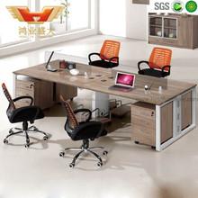 Open Acrylic Office Workstation Desk Steel Furniture Acrylic 4 Person Workstation two sided Office Desk HY-Z16