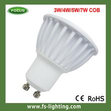 High Lumen GU10/MR16 COB 5W 4wd led spotlight with gift box