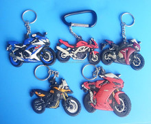 Newest products five fashional designs motor pvc rubber keychains