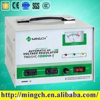 CE ROHS single phase 1000VA pure copper coil servo ac voltage stabilizer price