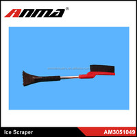 Red and Black Ice Scraper/Brush/Squeegee Extendable Auto Tools for Car