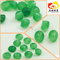 Semi precious Facet Cut Dyed Green Malay Jade rough in loose gemstone