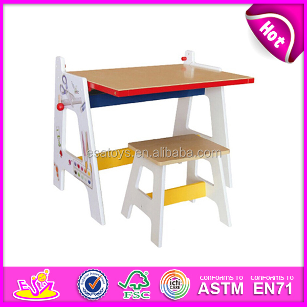 Colorful Table And Chair,Wooden Toy Kids Homework Table,Hot Sale ...