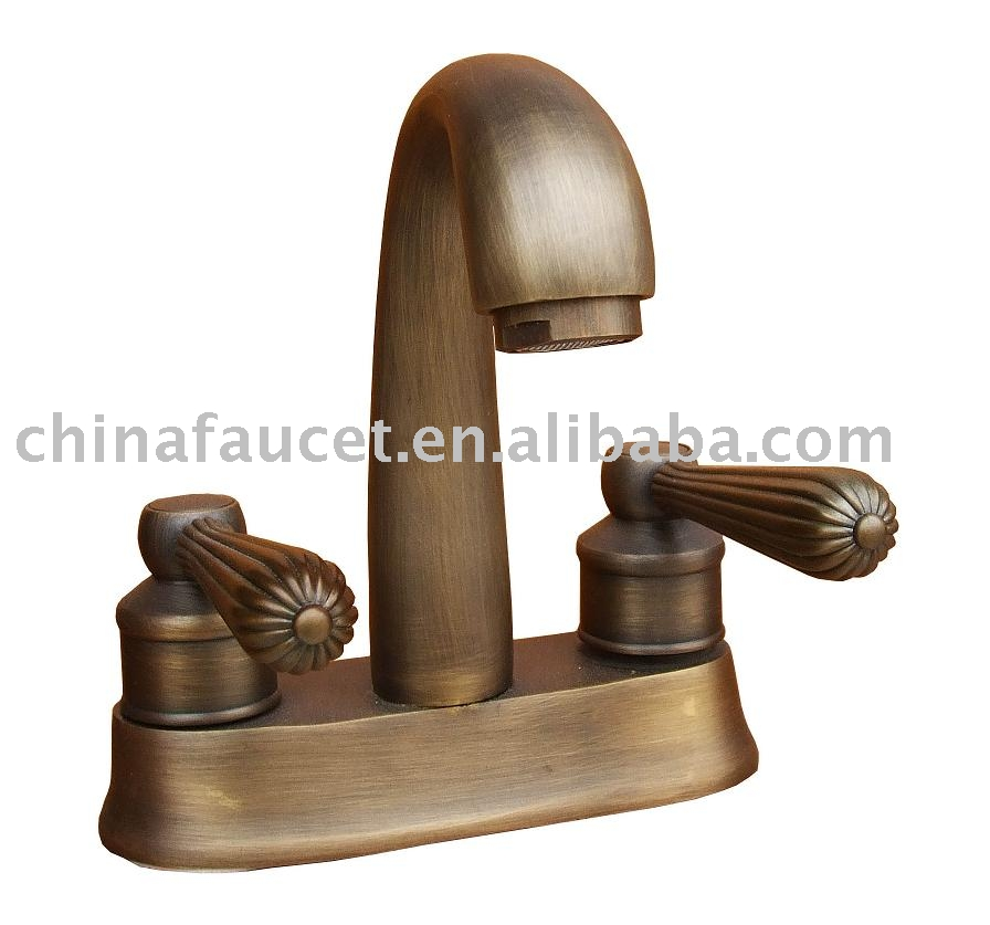 Rustic bronze bathroom faucets