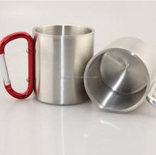 Stainless Steel Camping Mug Wholesale Carabiner Handle