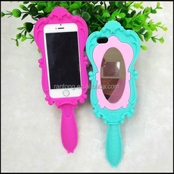 China Manufacturer cell phone case silicone for apple iphone mirror