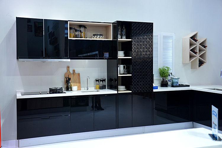 modern design black lacquer kitchen cabinets buy kitchen