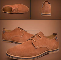 new design fashion European style men shoes suede genuine leather oxfords casual shoes for man