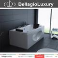 Ventana de vidrio bañera de masaje, cómodo bañera de hidromasaje, acrílico whirlpool bath