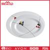 Holiday product party use melamine plate, white elegant dinnerware ellipse dish set