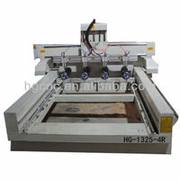 HG-1325-4R China famous brand on sale 2014 newest 4 axis cnc wood engraving machine