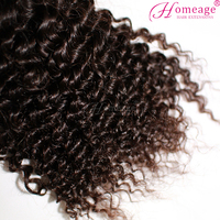 homeage fashion afro kinky human hair remy best grade fluffy hair weaving