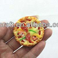 fancy mini fake pizza hut/pie figures model for artificial food fridge magnet as high quality gift items or home decor