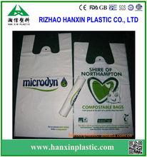 Bio-degradable Plastic T-Shirt thank you Bag wholsale carrier bag