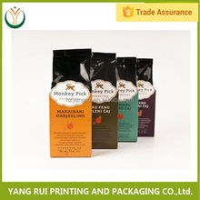Alibaba china Flexible Packaging silver foil lined plastic coffee bags