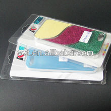 Plastic packing box with paper card inside for cell phone case