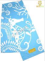 Luxurious Travel Custom Printed Suede Microfiber beach towel