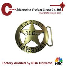 Belt buckle manufacturers custom engrave logo cut out star US military metal belt buckle
