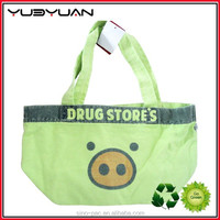 Wholesale colorful functional OEM silk printing canvas beach bag