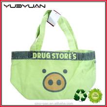 Wholesale colorful functional OEM silk printing canvas beach bag