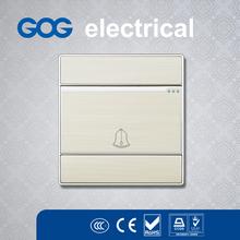 G30 series 86*86 square shape GOG aluminium/stainless steel/PC doorbell switch