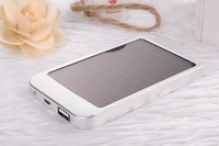 Ultra slim 2600mah solar power bank for cell phone mp3 mp4