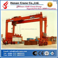 Rubber tyre container gantry crane 40t RTG/RMG crane efficient used on shipyard ,dockyard,port