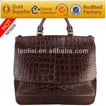 european hot selling style alligator pattern leahter mens bag