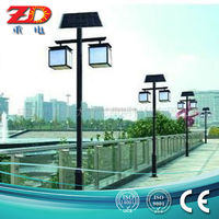 Customized Q235 steel led solar garden light with high quality and low price