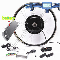 31 - 60 km Range per Power and Lithium Battery Power Supply E-Bike Electric Bicycle kit with F/R disc brake 48V 1000W