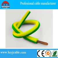 pure copper pvc electric wire (cables)/roll all color shanghai zone