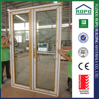 Double panels clear glass fitting glass door