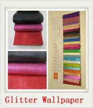 Glitter wallpaper chine mode pu cuir synthétique beau papier peint