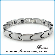China wholesale tungsten bracelet with magnet, positive energy bracelets, tungsten bracelets with energy element