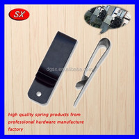 OEM metal belt clips made by spring machines,small stainless steel spring clips made in Dongguan