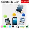 Cheap Portable Silicon music mini speaker Ball Shape Mini speaker for phone mixed colors