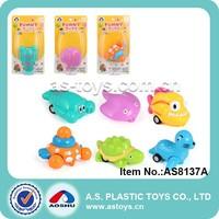 6 Style octopus/sea lion/shrimp/turtle pull back sea animals toys for kid