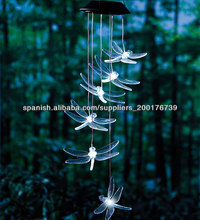 Vuelo de la libélula Windchimes Con LEDs brillantes