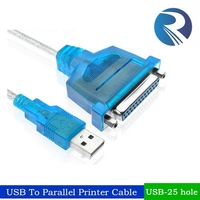 1.5m USB25 hole printing cable USB to Parallel cable 25-pin adapter cable older printers line switch interface converter