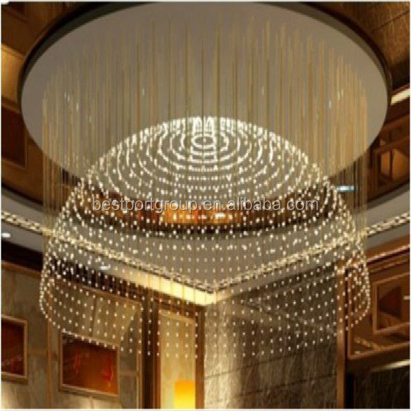 Beautiful Flower 220V LED Fiber optic chandelier