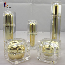 50ml golden jar top quality acrylic cosmetic night cream square jar and bottles