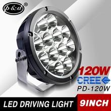 9Inch 120w C ree Led Spolight Work Light Bar Offroad Car Truck Driving Lamp