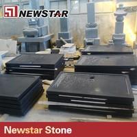 anti-slip black rectangle granite shower tray