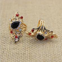 Songjon model gold fake gemstone alloy rings for class rings