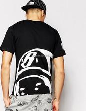 2015 New Mens Summer Tops Tees Short Sleeve Back Printed T Shirt Round Neck Plus Size XL~5XL T Shirt