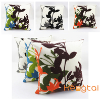 Wholesale Latest Chinese Hand Embroidery Design Ikea Style Cushion Cover, Decorative Sofa Car Seat Pillow Case